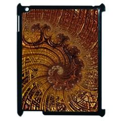 Copper Caramel Swirls Abstract Art Apple Ipad 2 Case (black)