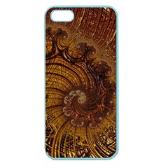 Copper Caramel Swirls Abstract Art Apple Seamless Iphone 5 Case (color)