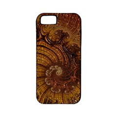 Copper Caramel Swirls Abstract Art Apple Iphone 5 Classic Hardshell Case (pc+silicone)