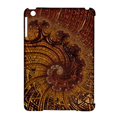 Copper Caramel Swirls Abstract Art Apple Ipad Mini Hardshell Case (compatible With Smart Cover)