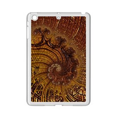 Copper Caramel Swirls Abstract Art Ipad Mini 2 Enamel Coated Cases