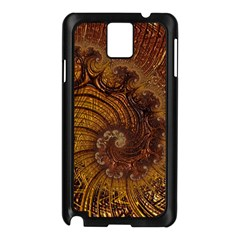 Copper Caramel Swirls Abstract Art Samsung Galaxy Note 3 N9005 Case (black)