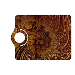 Copper Caramel Swirls Abstract Art Kindle Fire Hd (2013) Flip 360 Case