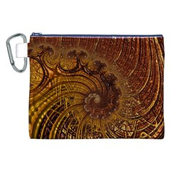 Copper Caramel Swirls Abstract Art Canvas Cosmetic Bag (xxl)