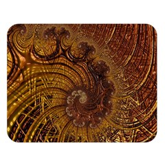Copper Caramel Swirls Abstract Art Double Sided Flano Blanket (large)