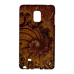 Copper Caramel Swirls Abstract Art Galaxy Note Edge