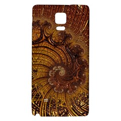 Copper Caramel Swirls Abstract Art Galaxy Note 4 Back Case