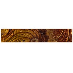 Copper Caramel Swirls Abstract Art Flano Scarf (Large)