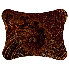 Copper Caramel Swirls Abstract Art Jigsaw Puzzle Photo Stand (bow)
