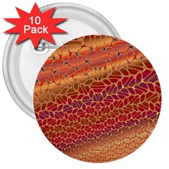 Line Dancing Gold Purple 3  Buttons (10 pack)