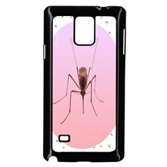 Mosquito Pink Insect Blood Samsung Galaxy Note 4 Case (Black)