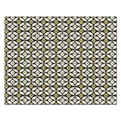 Flower Floral Chevrpn Wave Sunflower Rose Grey Yellow Rectangular Jigsaw Puzzl