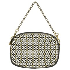 Flower Floral Chevrpn Wave Sunflower Rose Grey Yellow Chain Purses (two Sides)