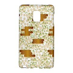 Flower Floral Leaf Rose Pink White Green Gold Galaxy Note Edge