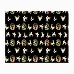 Butterfly Floral Flower Green White Small Glasses Cloth