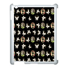 Butterfly Floral Flower Green White Apple Ipad 3/4 Case (white)