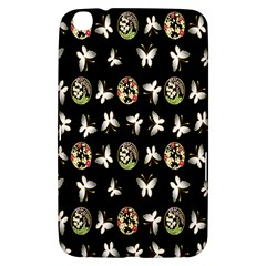 Butterfly Floral Flower Green White Samsung Galaxy Tab 3 (8 ) T3100 Hardshell Case