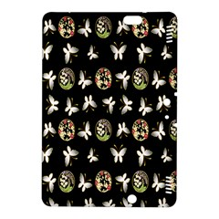 Butterfly Floral Flower Green White Kindle Fire HDX 8.9  Hardshell Case