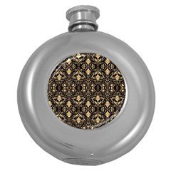 Wallpaper Wall Art Art Architecture Round Hip Flask (5 Oz)
