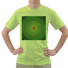 Green Fractal Simple Wire String Green T-Shirt