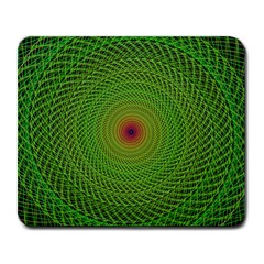 Green Fractal Simple Wire String Large Mousepads
