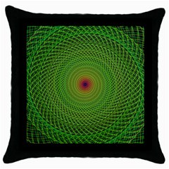 Green Fractal Simple Wire String Throw Pillow Case (Black)