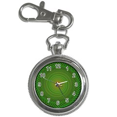 Green Fractal Simple Wire String Key Chain Watches