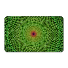 Green Fractal Simple Wire String Magnet (Rectangular)