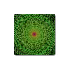 Green Fractal Simple Wire String Square Magnet