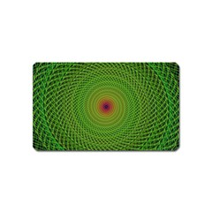 Green Fractal Simple Wire String Magnet (name Card)