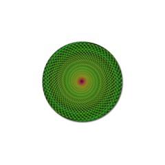 Green Fractal Simple Wire String Golf Ball Marker