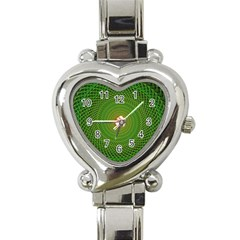 Green Fractal Simple Wire String Heart Italian Charm Watch