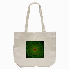 Green Fractal Simple Wire String Tote Bag (cream)