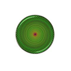 Green Fractal Simple Wire String Hat Clip Ball Marker (4 Pack)