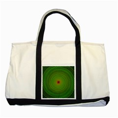 Green Fractal Simple Wire String Two Tone Tote Bag