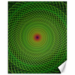 Green Fractal Simple Wire String Canvas 16  X 20