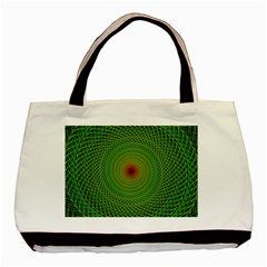 Green Fractal Simple Wire String Basic Tote Bag (two Sides)