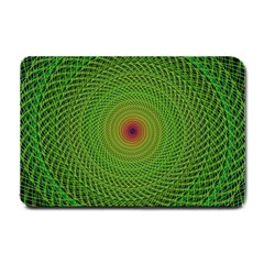Green Fractal Simple Wire String Small Doormat