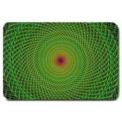 Green Fractal Simple Wire String Large Doormat