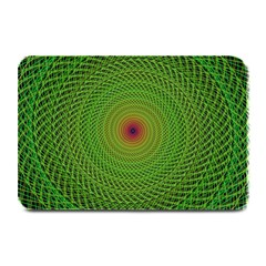 Green Fractal Simple Wire String Plate Mats