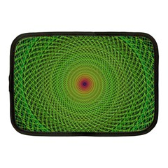 Green Fractal Simple Wire String Netbook Case (medium)