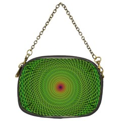 Green Fractal Simple Wire String Chain Purses (two Sides)