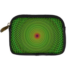Green Fractal Simple Wire String Digital Camera Cases