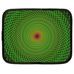 Green Fractal Simple Wire String Netbook Case (xl)