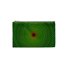Green Fractal Simple Wire String Cosmetic Bag (small)