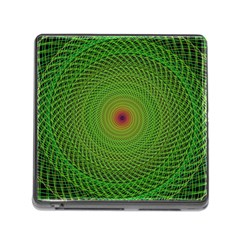 Green Fractal Simple Wire String Memory Card Reader (square)