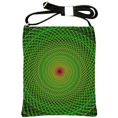 Green Fractal Simple Wire String Shoulder Sling Bags