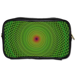 Green Fractal Simple Wire String Toiletries Bags