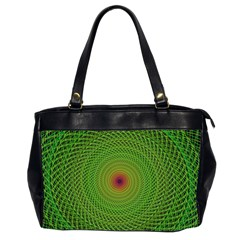 Green Fractal Simple Wire String Office Handbags (2 Sides)