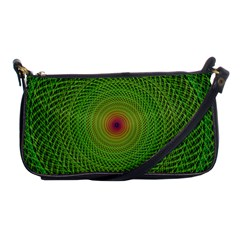 Green Fractal Simple Wire String Shoulder Clutch Bags